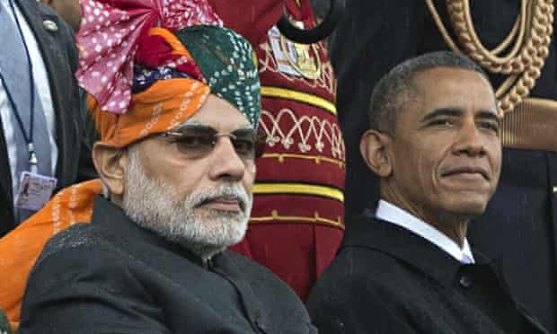 Obama feted in Delhi as US cements closer ties with India   India   The  Guardian