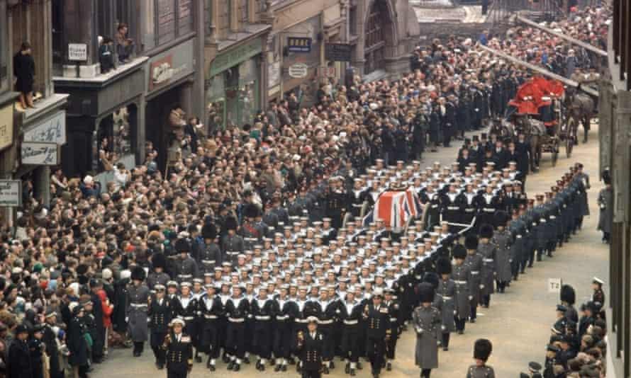 Winston Churchill's funeral, 31 January 1965.