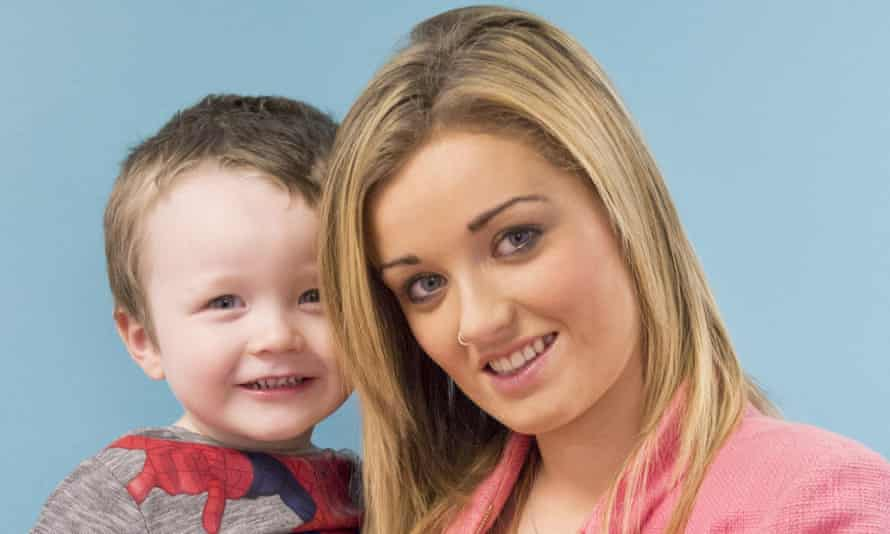 Sammie Welch and her son Rylan. 'Travelling with a small child can be hard work, work that single parents do all the time.
