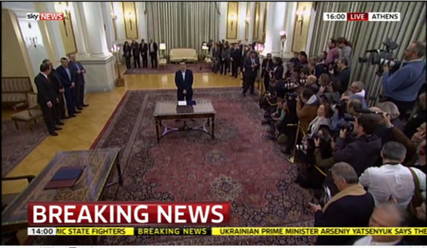 Alexis Tsipras sworn in
