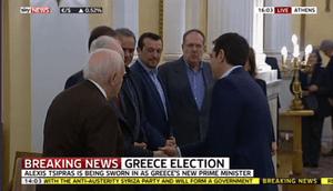 Alexis Tsipras sworn in
