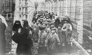 Children inmates of Auschwitz concentration camp after liberation in January 1945.