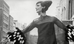 Anne Milling modelling a dress from the Christian Dior spring collection, 1967