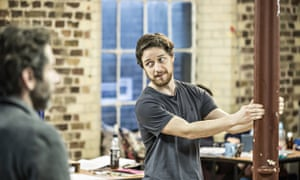 James McAvoy in rehearsals for The Ruling Class