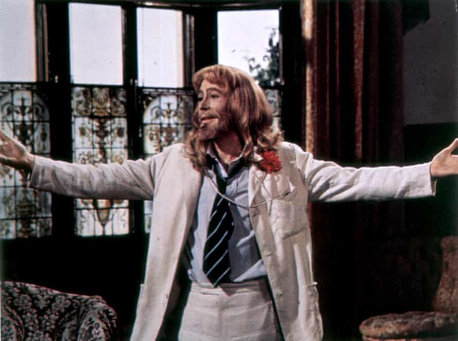 Peter O'Toole in The Ruling Class, 1971