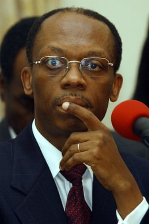 Former Haitian President Jean-Bertrand Aristide.
