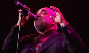 Demis Roussos performing in Manchester in 2002.