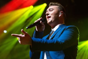 Sam Smith performing at iTunes Festival, The Roundhouse, London