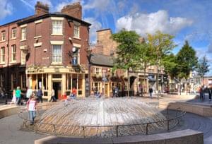 Warrington town centre.