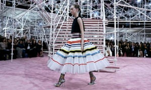 ... a creation by Belgian designer Raf Simons as part of his haute couture  spring summer 2015 fashion show for French fashion house Christian Dior in  Paris. 3d37b767fcd56