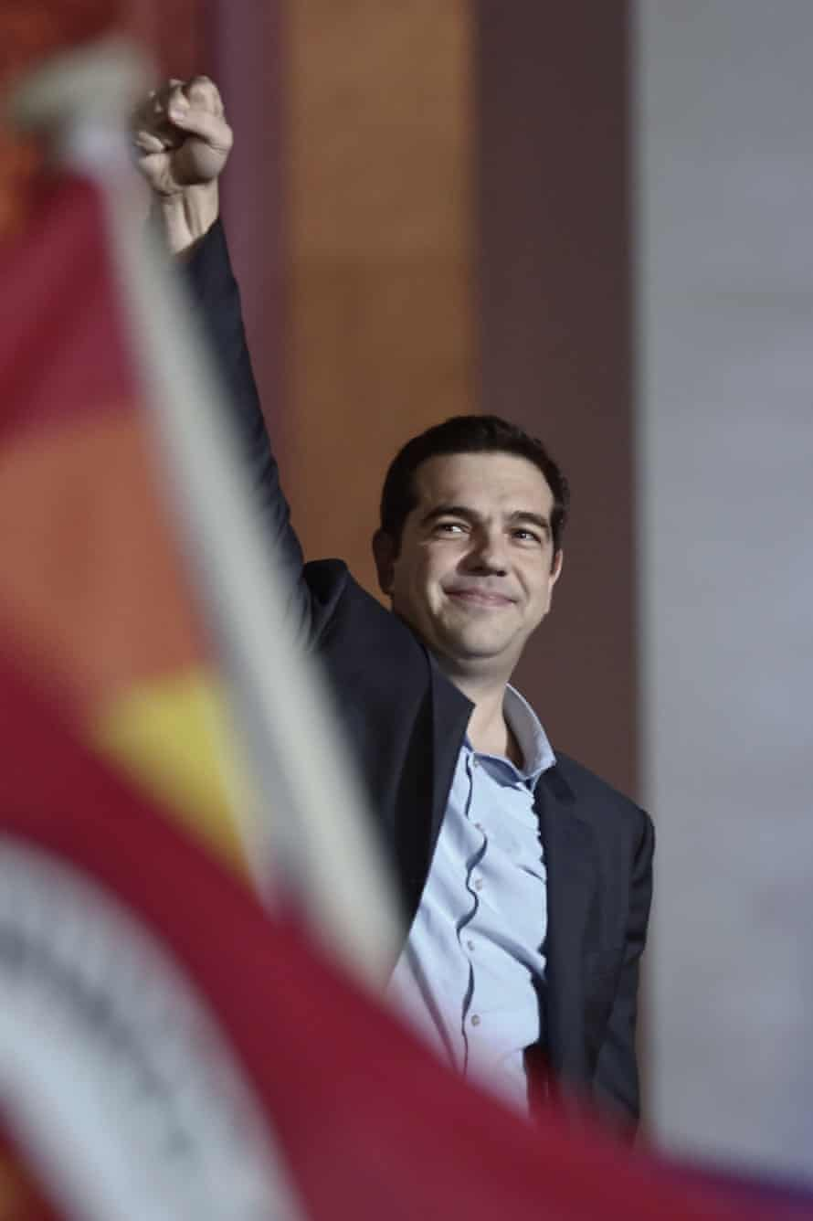 Alexis Tsipras of Syriza on 25 January in Athens