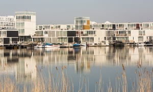 Floating houses near Amsterdam, built to combat sea-level rise.