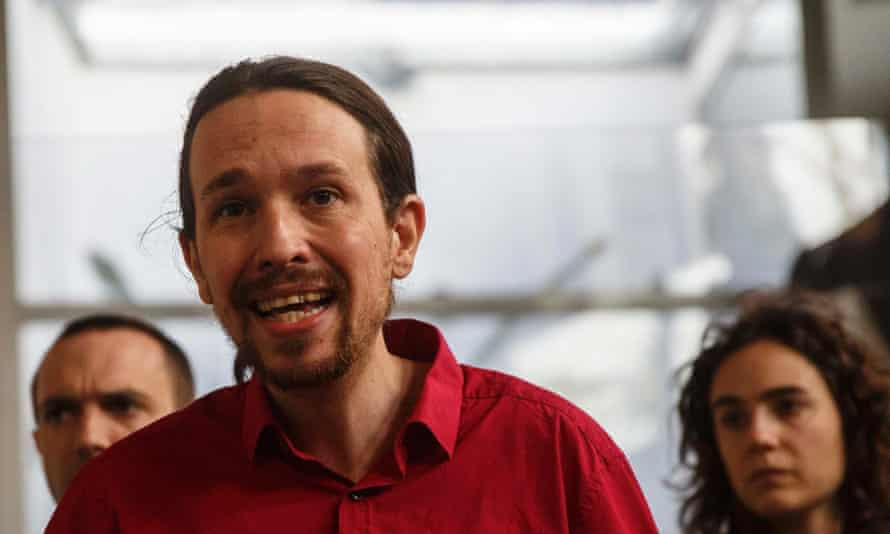 Podemos party secretary general Pablo Iglesias, who suggested Syriza victory could be repeated in Spain.