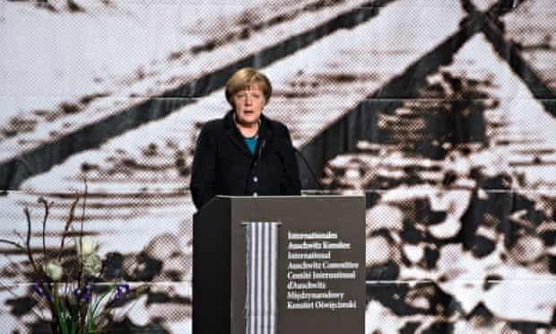 Angela Merkel commemorates liberation of Auschwitz