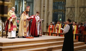 Libby Lane during the service where she became the first woman bishop of the Church of England.