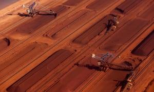 iron ore stockpiles port hedland