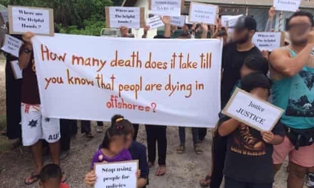 Nauru children asylum seekers protest on Australia Day