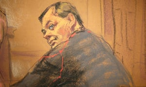 A courtroom sketch of Evgeny Buryakov, arrested in New York as a Russian spy.
