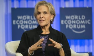 President of the Rockefeller Foundation Judith Rodin, at the World Economic Forum in Davos, 2014.