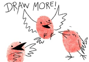 How to draw a finch 6
