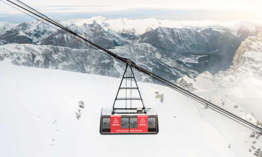 The Courchevel ski resort in France is offering four lucky guests the chance to spend the night in a cable car.