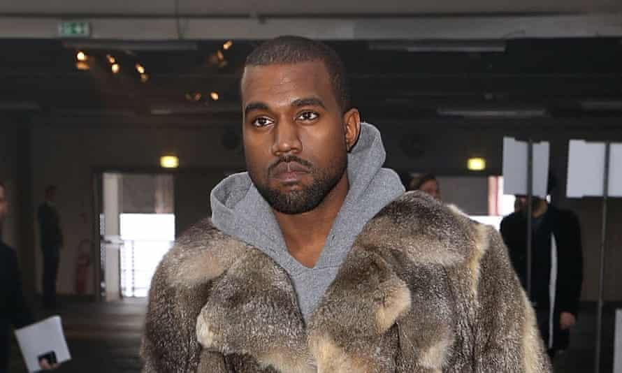 Kanye West in Paris this month