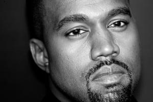Kanye West, not smiling