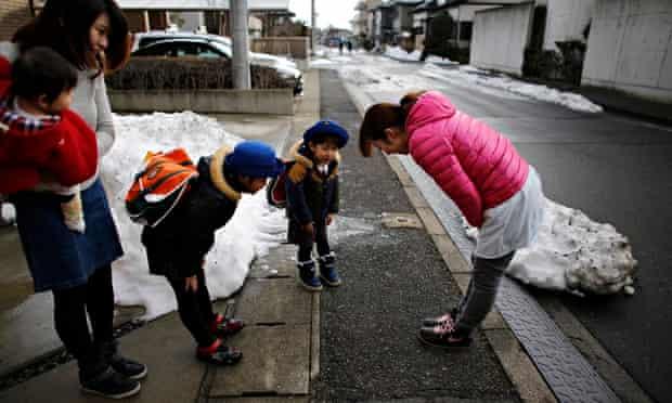 Children near Fukushim, Japan