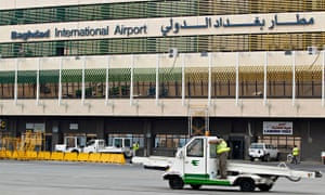 Bullets hit a flydubai jet at Baghdad airport on Monday