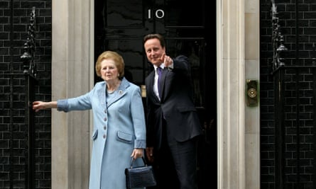 David Cameron with Margaret Thatcher