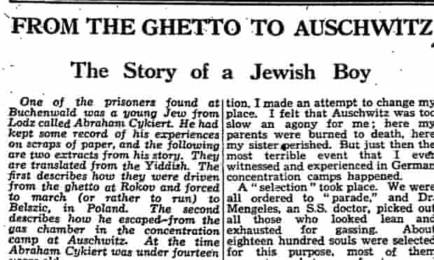 The Manchester Guardian, 14 May 1945