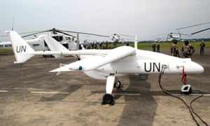 An Italian-made surveillance drone belonging to the UN's peacekeeping mission in the Democratic Republic of Congo.