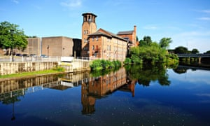 The Silk Mill on the River Derwent is now a museum celebrating Derby's history.
