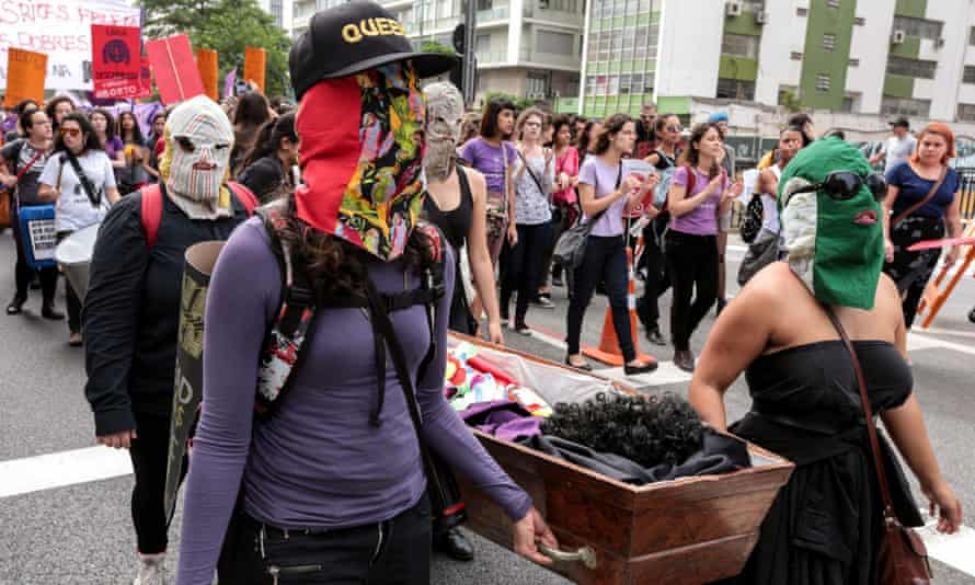 The right to choose: a pro-abortion march in São Paulo.