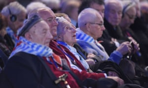 Survivors attend the main ceremony to mark the 70th anniversary of the liberation of Auschwitz-Birkenau.