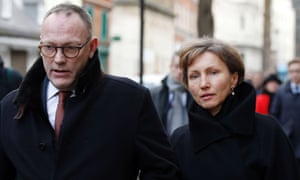Ben Emmerson QC arrives at the high court with Marina Litvinenko.