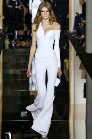 Versace's 2015 haute couture spring/summer show for Paris fashion week.