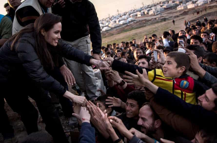 UN special envoy Angelina Jolie in Dohuk, Iraq.