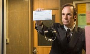 Bob Odenkirk as Saul Goodman.