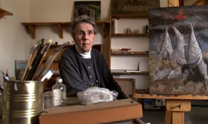 Leonora Carrington in her Mexico City house in 2000