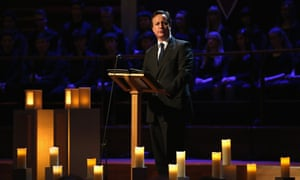 David Cameron has announced £50m government contribution towards a 'striking and prominent' national Holocaust memorial and learning centre in central London.