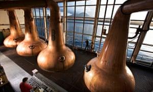 Caol Ila distillery on the isle of Islay, Inner Hebrides.