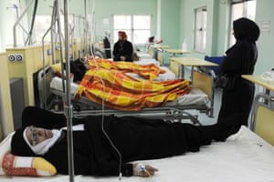"""Female patients undergo chemotherapy in a special ward set up by the charity """"Foundation For Special Diseases."""""""