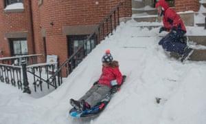 boston snow juno children sled