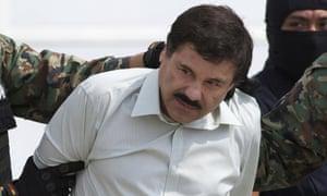Joaquin 'El Chapo' Guzman after his arrest in February 2014.