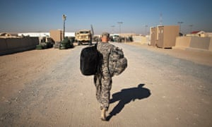 US solder begins trip home from Iraq