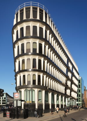 'Tower of Pisa as remodelled by stormtroopers' … 30 Cannon Street by Whinney, Son & Austen Hall makes the list.