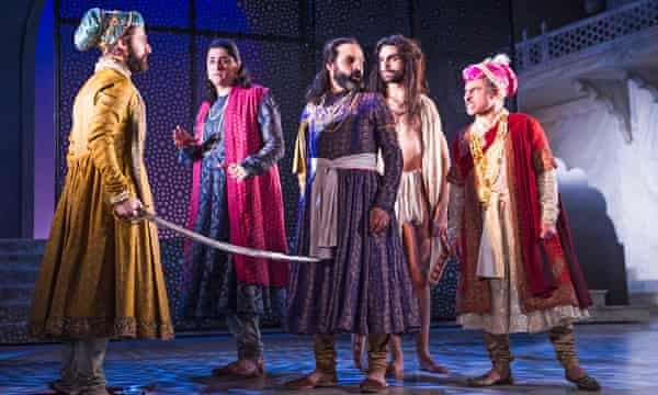 Sargon Yelda (Aurangzeb), Chook Sibtain (Itbar), Zubin Varla (Dara), Scott Karim (Faqir) and Vincent Edrahim (Emperor Shah Jahan).