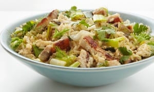 Thomasina Miers' pancetta, leek and fennel fried rice