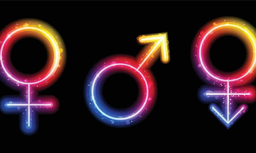 Male, female and Ttansgender gender symbols.